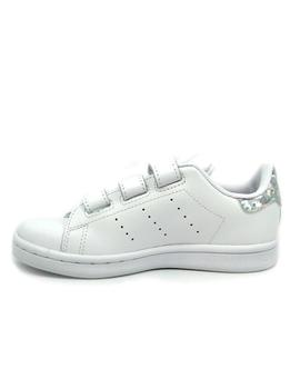 Zapatillas de Chica ADIDAS STAN SMITH PLATA BRILLO