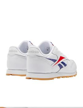 Zapatillas de Niño CLASSIC LEATHER BLANCO LOGO