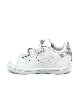 Zapatillas de Niño ADIDAS STAN SMITH PLATA BRILLO