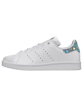 Zapatillas de Chica STAN SMITH J PLATA BRILLO