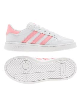 Zapatillas Adidas TEAM COURT C BLANCO ROSA