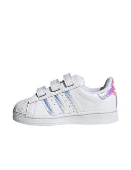 Zapatillas Superstar blanco brillo de bebé