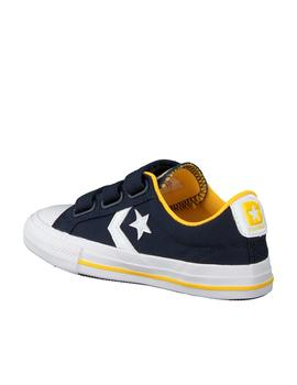 zapatilla converse star player 3v ox azul amarillo de niño