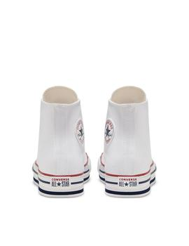 zapatillas all star platform hi junior blanco de niño