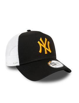 trucker new era league essential nyy negro blanco
