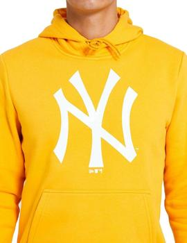 sudadera new era mlb seasonal logo hoody neyyan amarillo