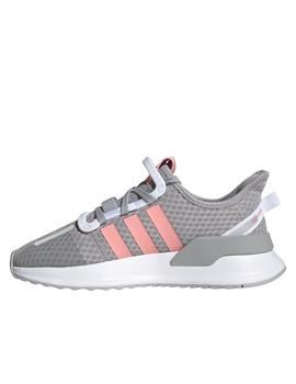 Zapatillas adidas U path run j gris rosa junior.