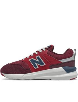 zapatillas new balance ys009cb1 granate de niño.