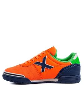 zaatillas munich g3 kid indoor 141 naranja de niño.