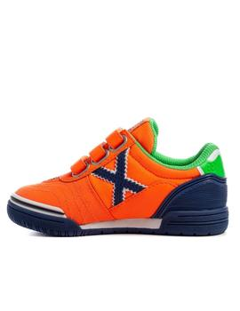 zapatillas munich g3 kid vco indoor 141 naranja de niño