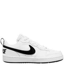 Zapatillas nike court borough low 2 gs blanco negro uisex