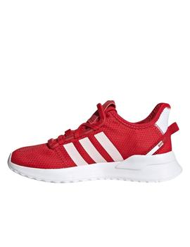 Zapatillas adidas u_path run rojo de niño.