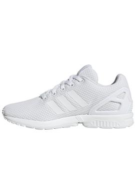 Zapatillas adidas zx flux j blanco