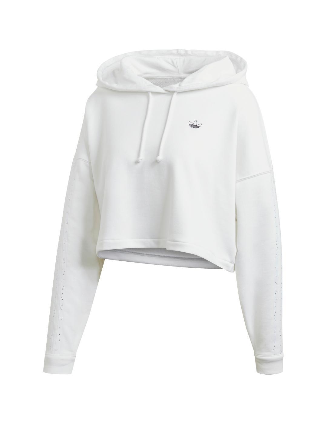 si puedes punto final reservorio  sudadera adidas bb cp hoodie blanco de mujer.