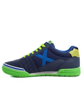 Zapatillas munich g3 kid switch azul de niño.