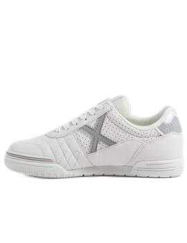 Zapatillas munich g3 kid profit 120 blanco gris de niño.