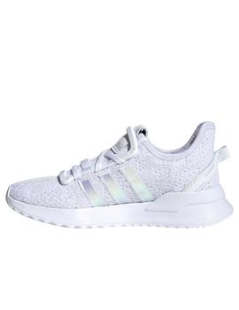 Zapatillas adidas u path run c blanco brillo de niña.