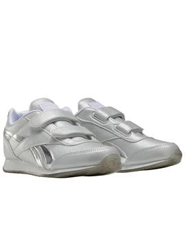 Zapatillas reebok royal cljog 2.0 2v gris brillo de niña.