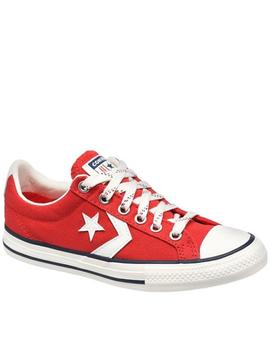 Zapatillas converse star player ev ox rojo de niño.