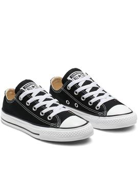 Zapatillas all star chuk taylor yths negro de niño.