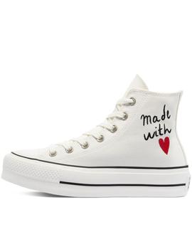 Zapatillas chuck taylor all star lift hi vintage white mujer