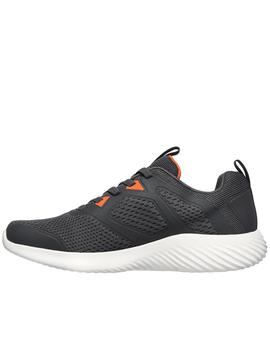 Zapatillas skechers bounder high degree gris de hombre.