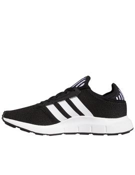 Zapatillas adidas swift run j negro de niño.