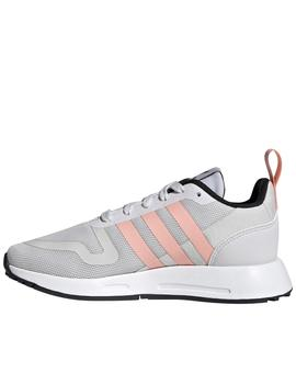Zapatillas adidas multix gris rosa junior.