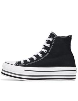 Zapatillas all star eva lift plataforma high top negro.