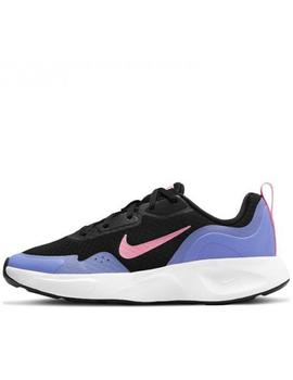 Zapatillas nike wearallday gs negro violeta de niño.