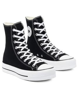 Zapatillas extra high platform chuck taylor all star negro
