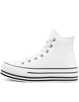 zapatillas all star eva lift plataforma high top blanco